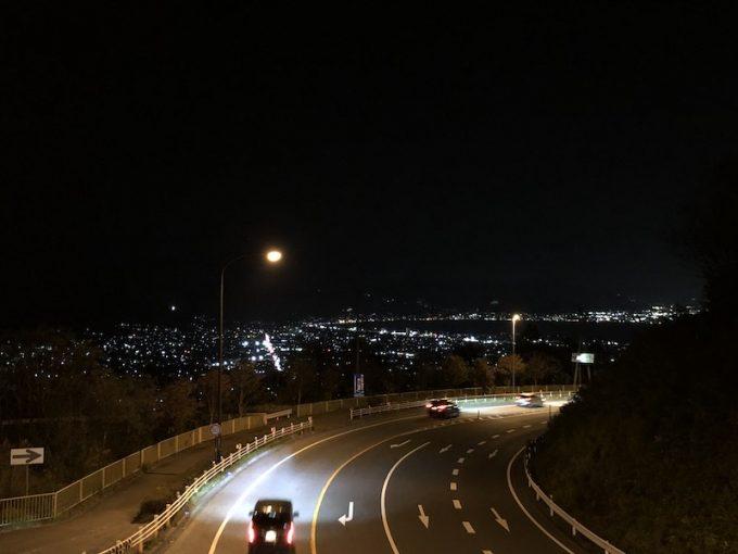 夜の塩尻峠